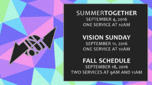 Two Services Announcement